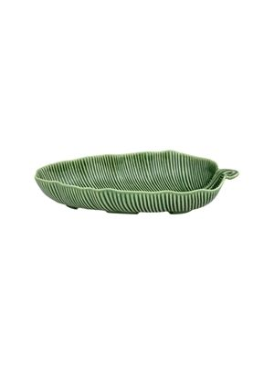 Salad Bowl 39,5 Banana Leaf Green F طبق
