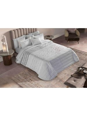 Bouty Abacate White Comforter  طاقم  ورغان زوجي مكون من 9  قطع لون فضي  بحجم 260*250