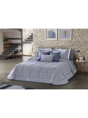 AGUEDA 250 * 270 DOUBLE  9 PCS BLUE WATER / AGUEDA  طاقم ورغان زوجي 250*270 مكون من 9 قطع لون المياه الزرقاء