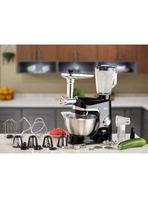 Electric mixer 4.3 L black color Blender, meat grinder and all accessories