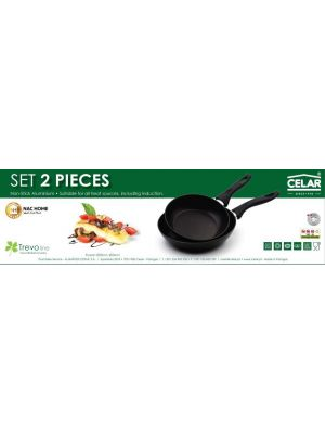 frypan set trevo line from celar 2 frypan 20 cm \ 24 cm Black handle