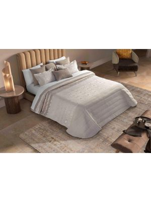 Bouty Abacate Taupe Comforter طاقم ورغان زوجي مكون من 9  قطع لون  ذهبي  بحجم 260*250