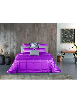 COMFORTER POTASSIO HOT PINK KING SIZE 250 * 260  طاقم ورغان  مكون من  3  قطع فوشي زوجي بحجم