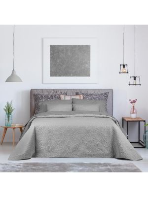 bouty troia 1 250x270 light grey /  طاقم ورغان زوجي مقاس 250*270 اللون رصاصي فاتح